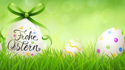 Bunt bemalte Ostereier– Frohe Ostern