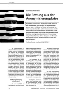 kes Beitrag - Die Rettung aus der Anonymisierungskrise