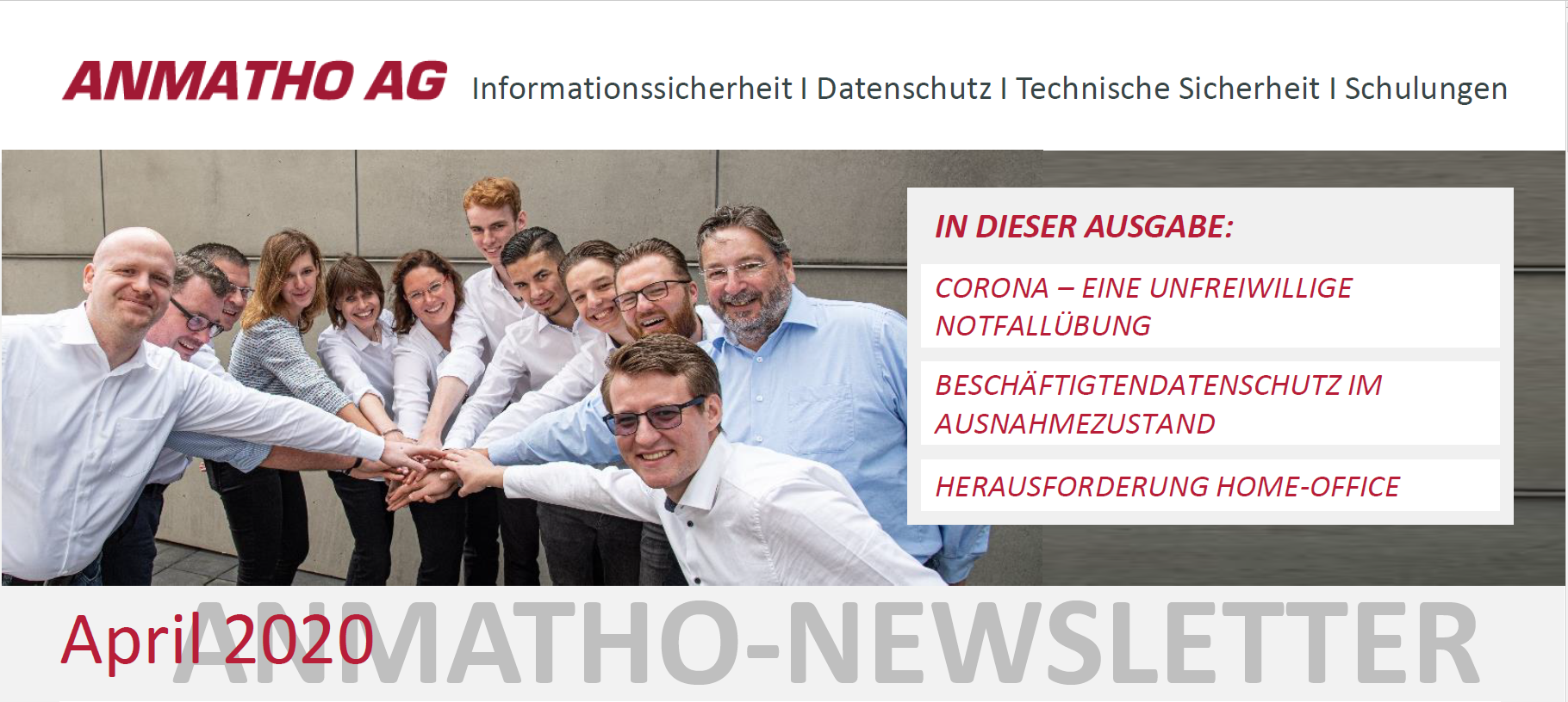 Newsletter Special ANMATHO Team