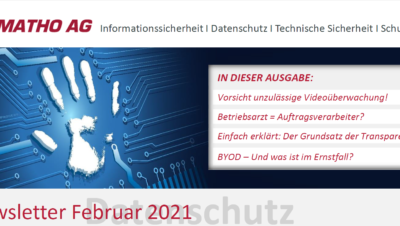 Datenschutznewsletter Februar 2021