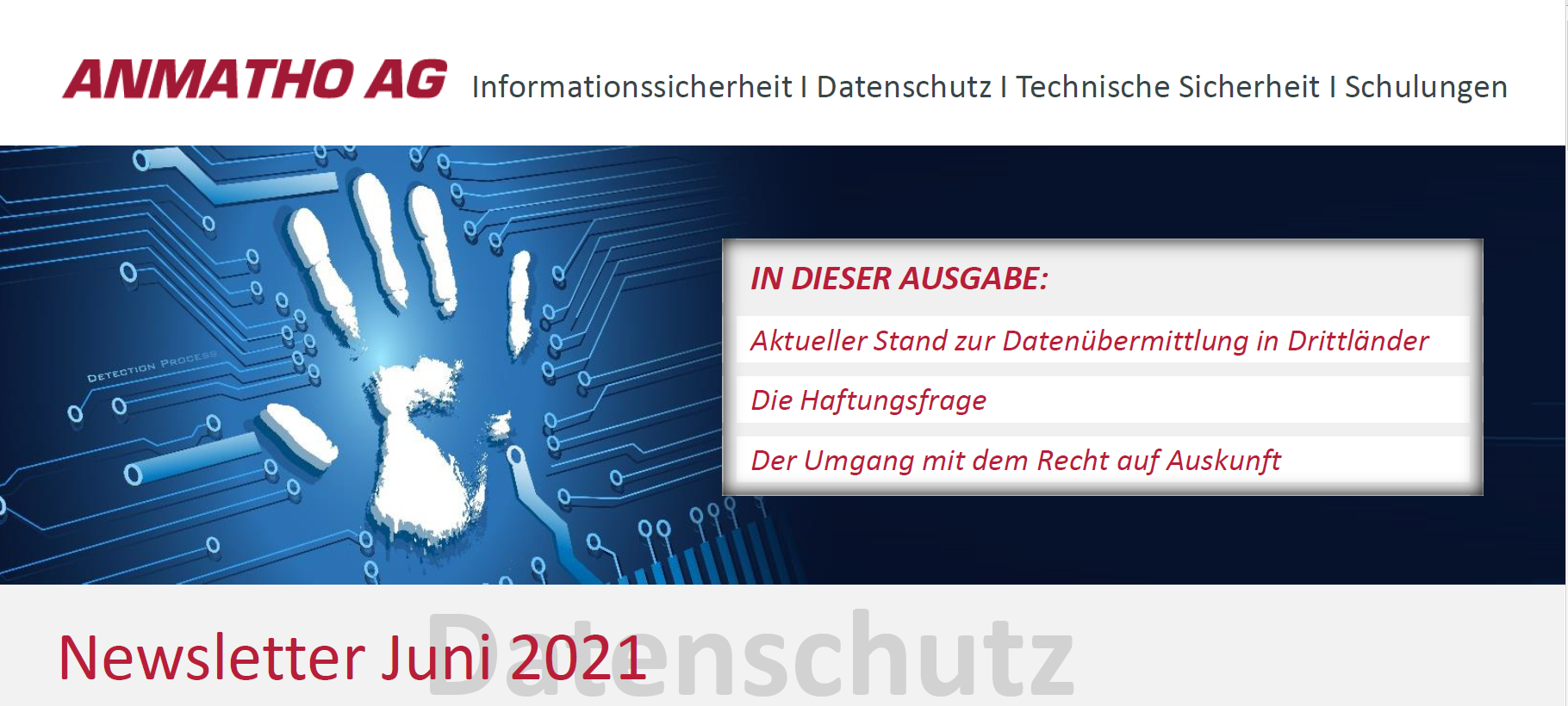 Header Datenschutz Newsletter Juni 2021